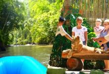 ラフティングと動物園 or バードパーク