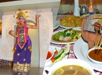 traditional dance + indonesian food