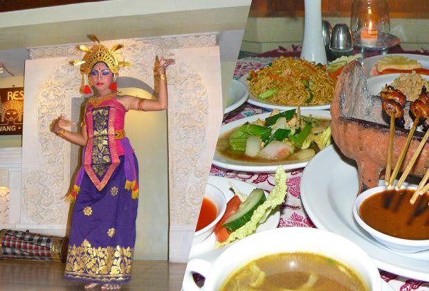 バリ伝統舞踊を観ながらインドネシア料理