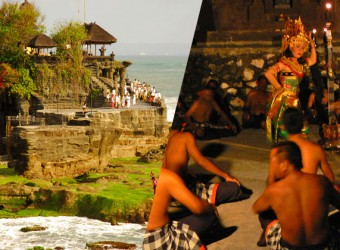 kecak tanah lot + dinner