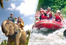 elephant ride + rafting
