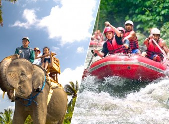 elephant ride + rafting