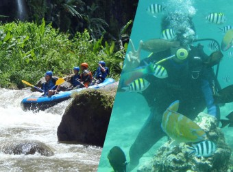 rafting + diving experience