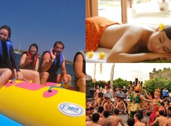 bali marine sports + spa + sightseeing