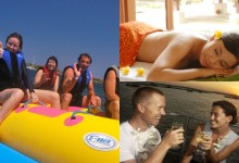 bali marine sports + spa + sunset dinner cruise