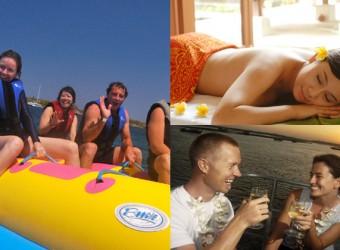 bali marine sports + spa + sunset dinner cruise
